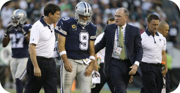 Sportsbook odds shift with Tony Romo injury